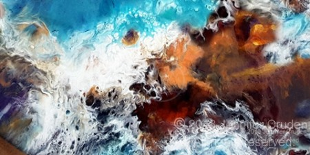 resin art of the sea
